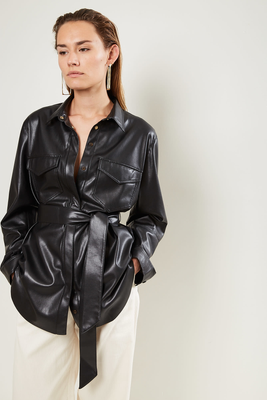 Nanushka Artha Vegan Leather Shirt