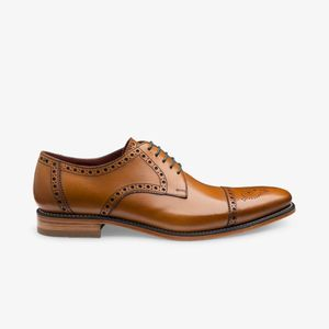 loake foley derby brogues , Colour:TAN