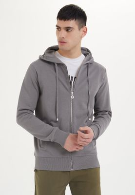 ESSENTIALS ZIP HOODIE in Charcoal Gray