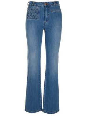 SEE BY CHLOÉ WOMEN'S CHS21SDP01150484 BLUE OTHER MATERIALS JEANS