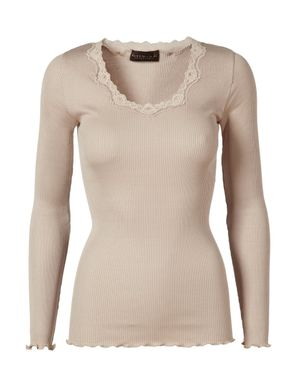 Rosemunde Babette Long Sleeve Top Colour: Beige