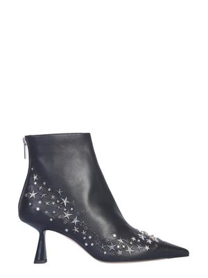 Jimmy Choo Kix Ankle Boots in Black with Star Studs