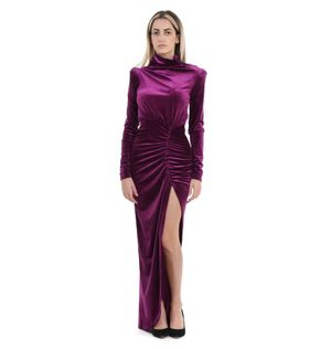 ACTUALEE WOMEN'S AB0037335150639FUXIA PURPLE OTHER MATERIALS DRESS