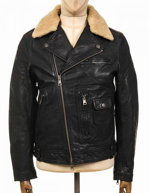 Deus Ex Machina Nail Leather Jacket - Black Size: Medium, Colour: Blac