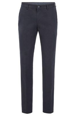 Hugo Boss - Stanino17-W Slim-fit Blue Trousers in Washed Stretch Cotton