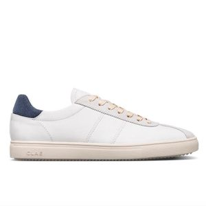 Clae Noah Leather - White/Navy