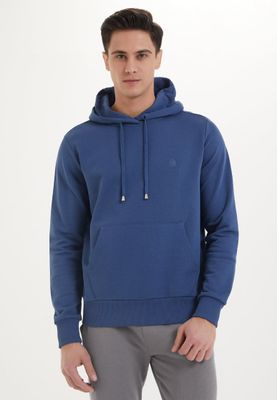 ESSENTIALS HOODIE in Dark Denim