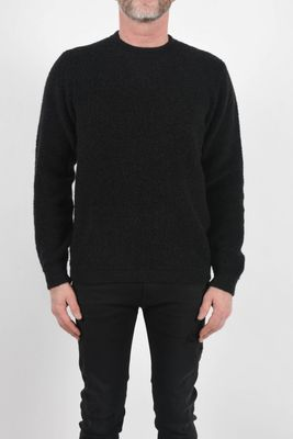 Daniele Fiesoli Textured Round Neck Knit Charcoal Colour: Charcoal, Si