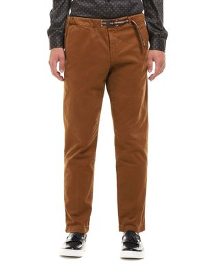 Pants with elastic waist strap