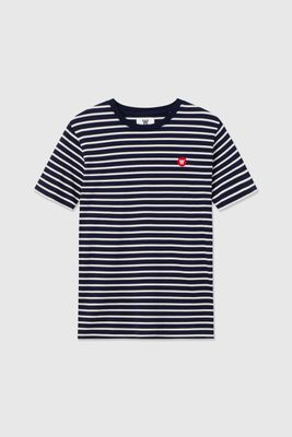 WoodWood Ace T-Shirt - Off White/Navy Stripes