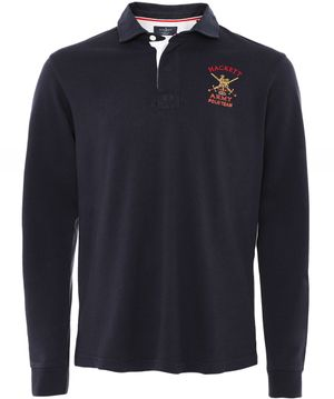 Hackett Classic Fit Army Rugby Shirt Colour: Navy