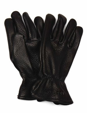 Red Wing 95232 Lined Buckskin Leather Gloves - Black
