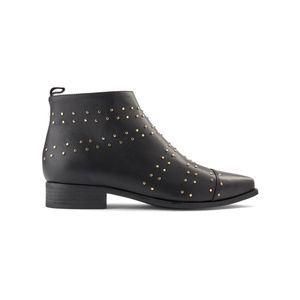 SHOE THE BEAR Miho Zip Studs Leather Boot - Black