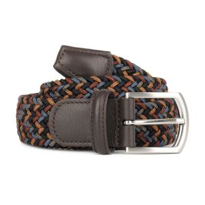 Andersons B0667 Woven Textile Belt Black, Blue and Burgundy