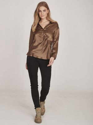 Nu Denmark Emi Shirt - brown sugar- 653140