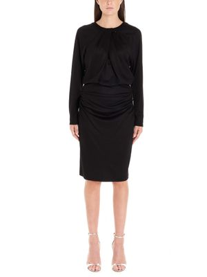 DIANE VON FURSTENBERG WOMEN'S 13522DVFBLACK BLACK WOOL DRESS