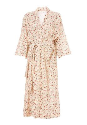M.A.B.E Kelby Printed Dressing Gown