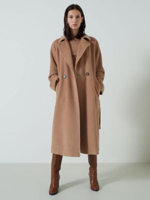 Marella Giorgio Camel Pure Wool Double-Breasted Coat