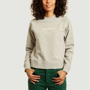 Classic nuit blanche printed sweatshirt Light heather grey Maison Labiche Paris
