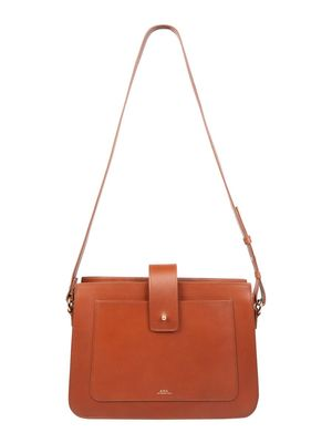 A.P.C. WOMEN'S PXAWVF61172CAD BROWN OTHER MATERIALS SHOULDER BAG