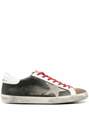 GOLDEN GOOSE MEN'S GMF00101F00034680309 GREEN LEATHER SNEAKERS