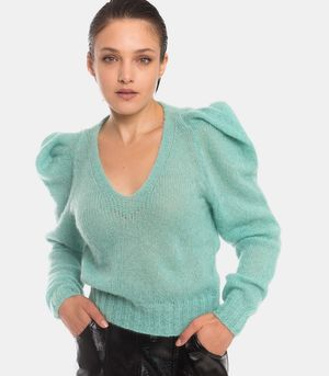 Sweater V-neck blue