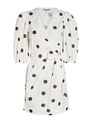 Ganni Spotty Wrap Dress