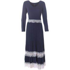R602 Navy Dress with Lace
