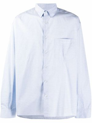 JACQUEMUS MEN'S 206SH01206103232 LIGHT BLUE COTTON SHIRT