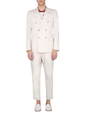 DOLCE E GABBANA MEN'S GKO9ETFU5SZW3789 WHITE COTTON SUIT