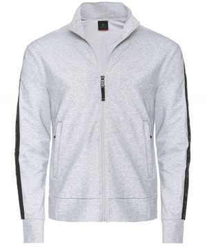 Bogner Zip-Through Marl Blake Sweatshirt Colour: Grey