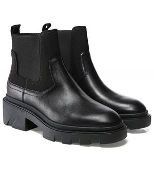 Ash Metro Leather Chelsea Boots Colour: Black