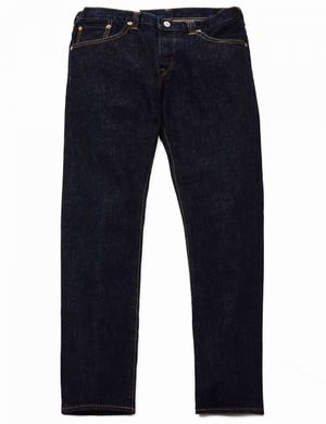 Edwin Jeans Loose Straight Rainbow Selvedge Denim - Blue Rinsed Size:
