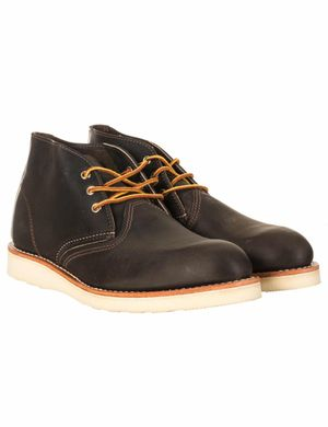 Red Wing 3150 Heritage Work Chukka Boot - Charcoal Rough & Tough  Colo