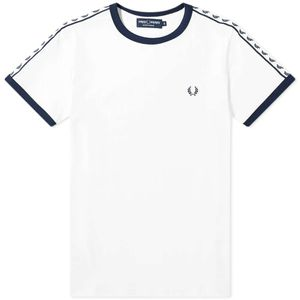 Fred Perry Authentic Taped Ringer Tee White