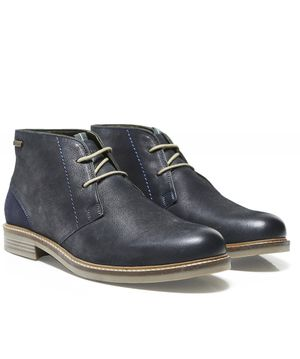 Barbour Leather Readhead Chukka Boots Colour: Navy