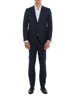 TAGLIATORE MEN'S 2SFR22B0106UPZ245I023 BLUE WOOL SUIT