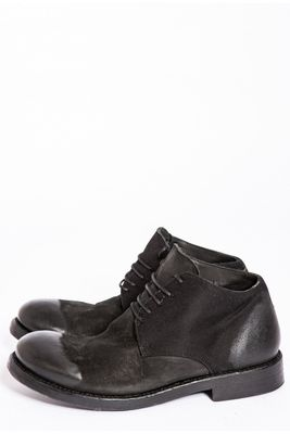 Hannes Roether x Last Conspiracy Leather/Fabric mid Boot Black Colour: