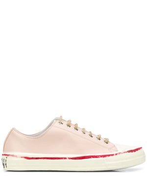 MARNI WOMEN'S SNZW006802P3350ZN007 PINK LEATHER SNEAKERS