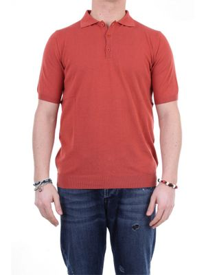 RETOIS MEN'S 10106TERRA RED OTHER MATERIALS POLO SHIRT