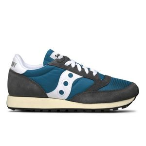 SAUCONY MEN'S 7036820 BLUE LEATHER SNEAKERS