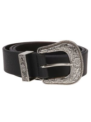 B-LOW THE BELT WOMEN'S BT091407LEBLKS BLACK LEATHER BELT