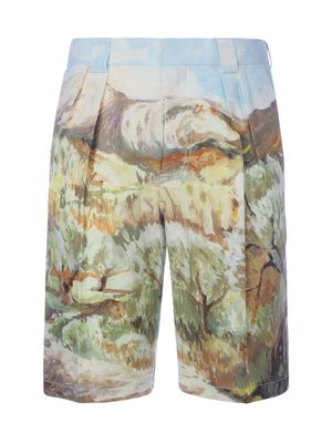 JACQUEMUS MEN'S 205PA072052603 MULTICOLOR COTTON SHORTS