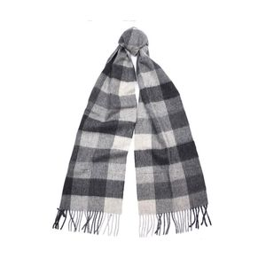 barbour large tattersall scarf , Colour:CHARCOAL