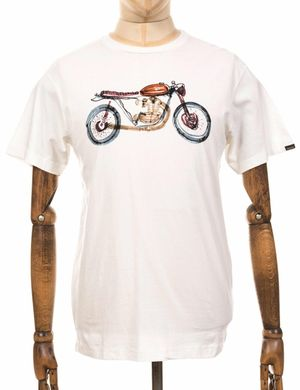 Deus Ex Machina Liquid Tee - Cloud Cream Colour: Cloud Cream