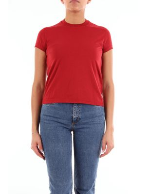 DRKSHDW by Rick Owens red short-sleeved t-shirt
