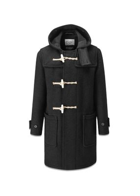 Gloverall Original Monty Duffle Coat Black