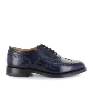 CHURCH'S MEN'S EEB0029EMF0AKW BLUE LEATHER LACE-UP SHOES
