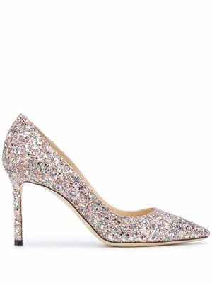 JIMMY CHOO WOMEN'S ROMY85LNDMOCHI MULTICOLOR PUMPS