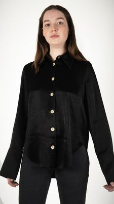 Nanushka Mandine Button Down Shirt Black
